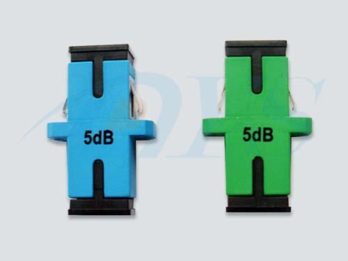 SC Green / BLUE Simplex Fiber Optic Attenuator For Overpowered Fiber Optic Systems