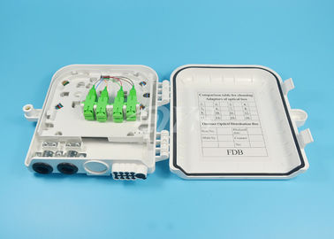 SC / APC 8 Port Fiber Optic Termination Box, FTTH