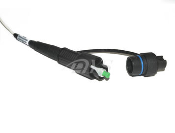 Waterproof Fiber Optic Patch Cord Warna Hitam Untuk Konektor SC Mini Optik