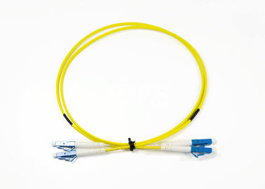 1M Single Mode Duplex Jumper Cord Patch Fiber Optik Dengan Sertifikasi ROHS
