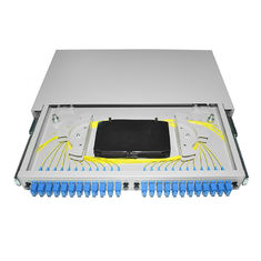 Pigtail Fiber Optic Patch Panel 19 '' Rack Mounted OTB ODB 12 24 Port SC Connector