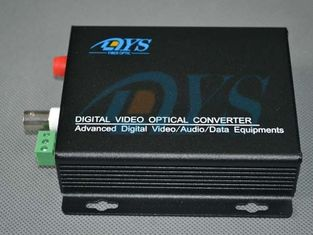 10 / 100 / 1000M Black SC Optical Fiber Media Converter , Internal / External Power