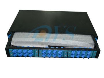 24 Core 19 Rack Mount Odf Optical Fiber , SC Slidable Jointing Fiber Cable