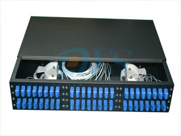 19 Inch Rack Mount Fiber Optik Odf, 2U 48 Core Optik Patch Panel Odf Struktur Kuat