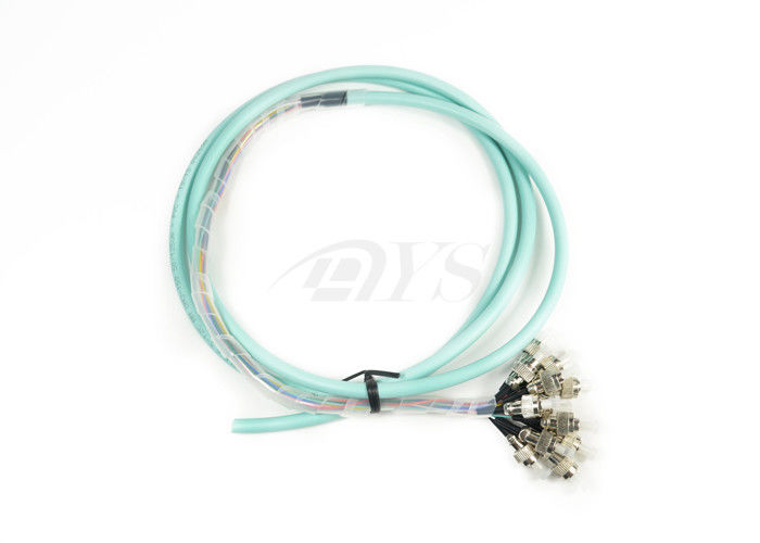 Cina Multimode FTTX Fiber Optic Patch Cord , FC Bunch Fan-out Pigtail pemasok