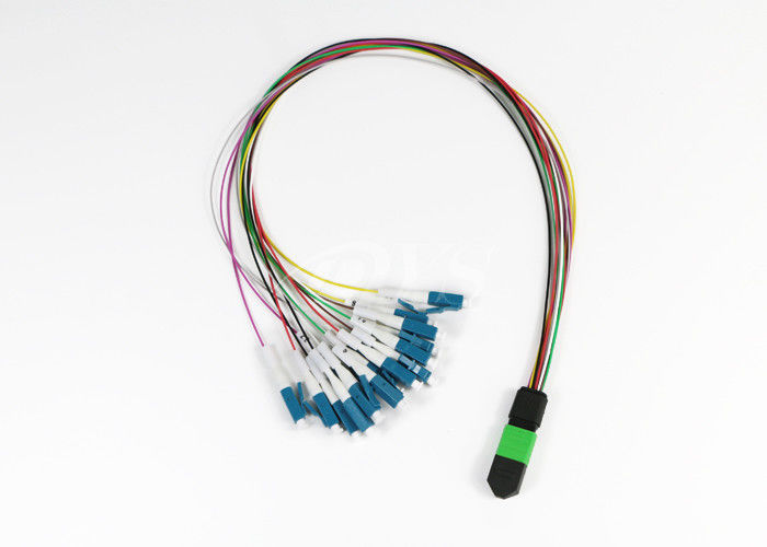 Cina 12 Fiber MTP/MPO (f) Elite- LC Single Mode Fan-Out Cable Assembly pemasok