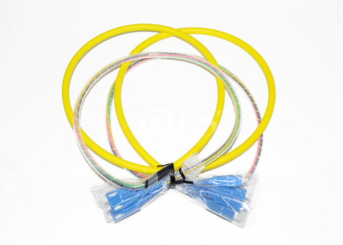 Cina SC/UPC-SC/UPC Optical Fiber Patch Cord Connector 4 Fiber With Pre - Terminated pemasok