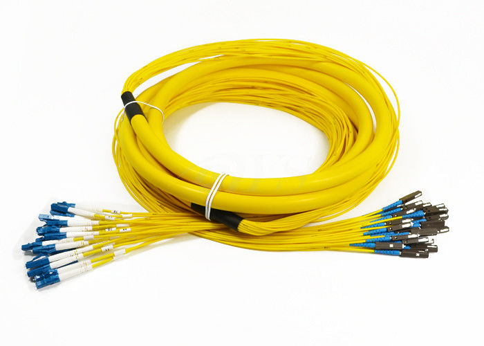 Cina 24 Core Distribution Jumper Optical Fiber Patch Cord , Fiber Optic Patch Cords pemasok