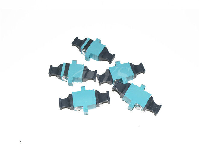 Cina MTP Adapter  KeyUp-KeyDown Fiber Optic Adapter Aqua  with flange High Size Precision pemasok