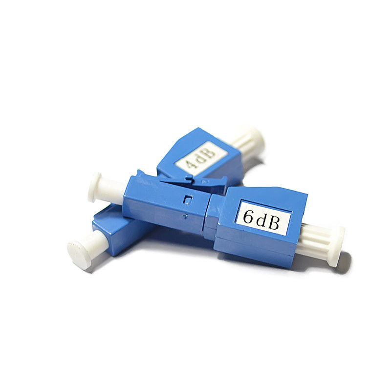 Cina 18dB Singlemode Male to Female LC / UPC Fiber Optic Attenuator , 3 / 20dB Optical Attenuator pemasok