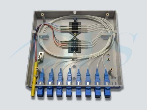 Indoor Wall Mounted Fiber Optic Terminal Box , Light FTTH Terminal Box pemasok