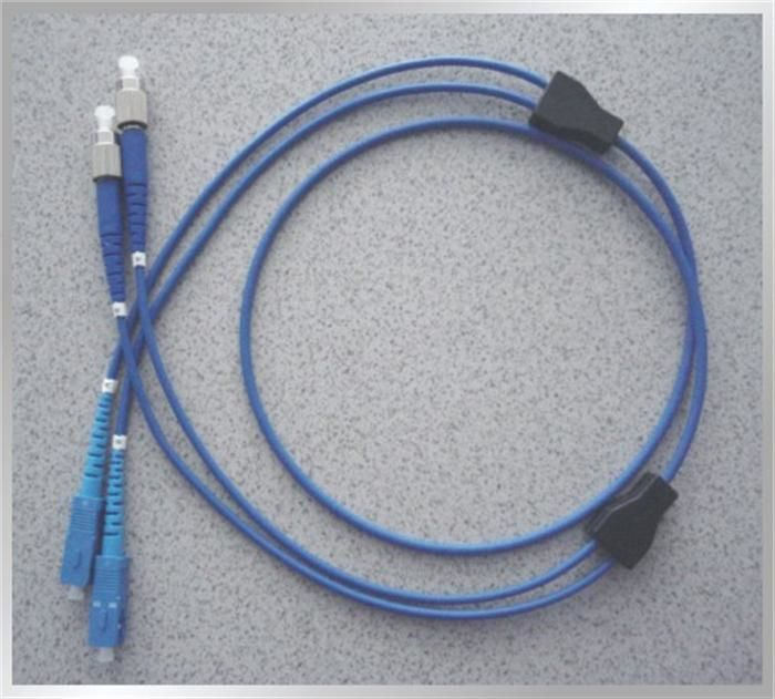 Cina Home Armoured Blue 2.9mm (1core, 2core) Outer Diameter Optical Fiber Patch Cord pemasok