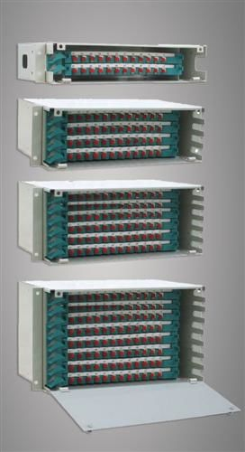Cina Stainless Steel ABS Fiber Optic Odf 96 Ports FC / SC / ST / LC for Wide Area Networks pemasok