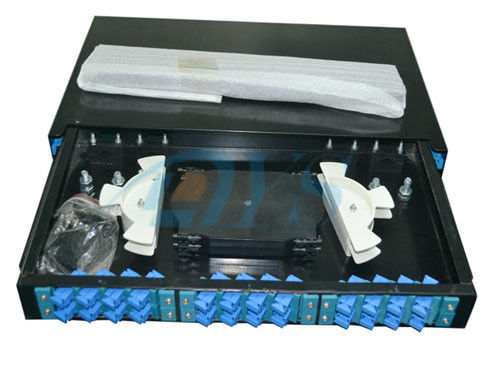 Cina SC Slidable Odf Optical Fiber 19 Rack Mount  to Fiber Optic Termination Box pemasok