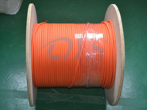 Cina Orange Duplex Flat Fiber Optic Cable, Indoor 62,5 / 125um Fiber Optik Cord pemasok